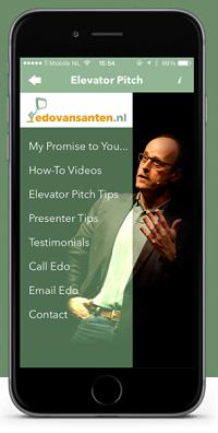 Elevator Pitch App by Edo van Santen