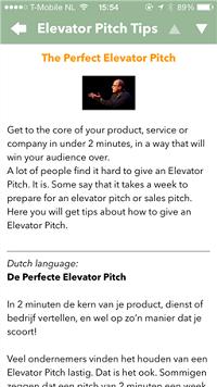 Elevator Pitch App door Edo van Santen