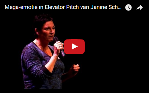 Mega-emotie in Elevator Pitch van Janine Schouls op #UpgradeWelzijn, training door Elevator Pitch Trainer/Coach/Spreker Edo van Santen