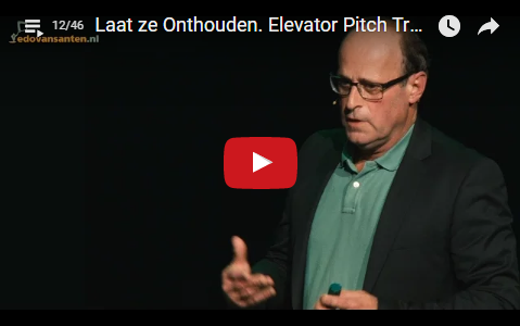 Let Them Remember. Elevator Pitch Trainer/Coach/Speaker Edo van Santen [12]