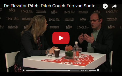 The Art of the Elevator Pitch. Pitch Coach Edo van Santen interviewed at the Entrepreneurship Week
